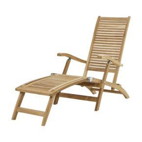 """Ploß Deckchair """"York"""" aus Premium-Teak natur"""