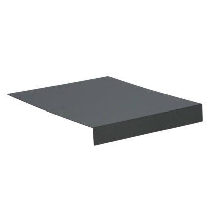 Stern Tablett L-Form, Aluminium graphit