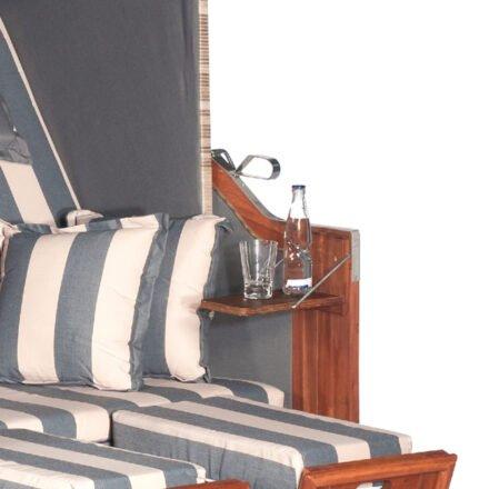 Sunnysmart Seitentisch für Strandkorb, Akazienholz geölt