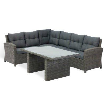 Home Islands Dining Lounge, Untergestell Aluminium, Geflecht Polyrattan espresso, Polster aus 100% Polyester
