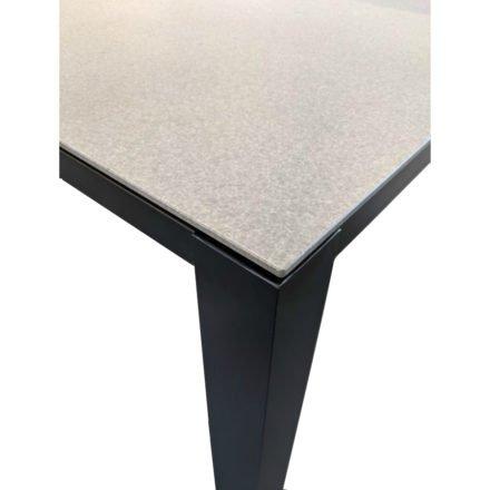 """Home Islands Gartentisch """"Panay"""", Gestell Aluminium anthrazit, Tischplatte Glas Betonoptik, Tischgröße: 220x100 cm"""