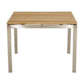 """Ploß """"Brooklyn"""" Gartentisch 100x100 cm, Gestell Edelstahl, Tischplatte Teak natur gebürstet"""