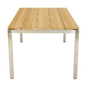 """Ploß """"Brooklyn"""" Gartentisch 220x100 cm, Gestell Edelstahl, Tischplatte Teak natur gebürstet"""