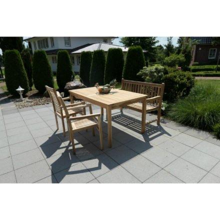 """Ploß Landhausbank """"Coventry Eco"""" mit Tisch und Stühlen """"Pittsburgh Eco"""", Eco Teak natur"""