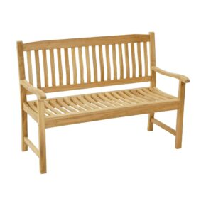 "Ploß Landhausbank 130cm ""New Haven"", Premium-Teak natur"