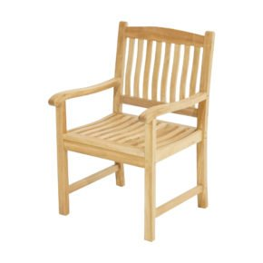 """Ploß Landhaussessel """"New Haven"""" mit ergonomisch geformer Sitz- und Rückenfläche, Premium-Teak natur"""