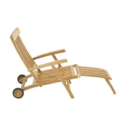 """Ploß Deckchair """"Pamir"""", Premium-Teak natur"""