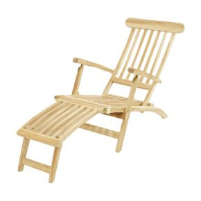 """Ploß """"Titanic Eco"""" Deckchair mit verstellbarer Rückenlehne, Eco-Teak natur"""