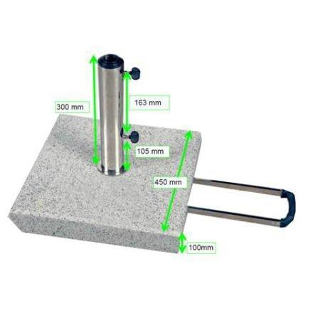 """Doppler Trolley-Granitsockel 50 kg für Sonnenschirm """"Act"""", Artikel 85897AGT"""