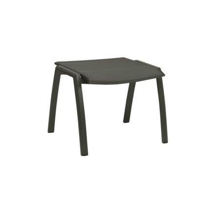 Stern Gartenhocker Kari, Gestell Aluminium anthrazit, Sitzfläche Textilgewebe karbon