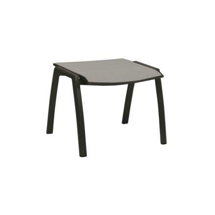 Stern Gartenhocker Kari, Gestell Aluminium anthrazit, Sitzfläche Textilgewebe silber