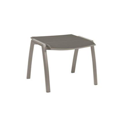 Stern Gartenhocker Kari, Gestell Aluminium grpahit, Sitzfläche Textilgewebe silbergrau