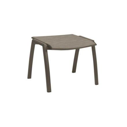 Stern Gartenhocker Kari, Gestell Aluminium taupe, Sitzfläche Textilgewebe kaschmir