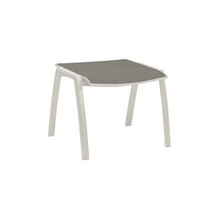 Stern Gartenhocker Kari, Gestell Aluminium weiß, Sitzfläche Textilgewebe silber