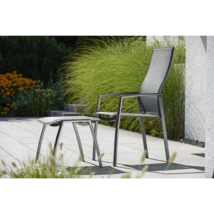 Stern Serie Kari, Gestell Aluminium anthrazit, Sitzfläche Textilgewebe karbon
