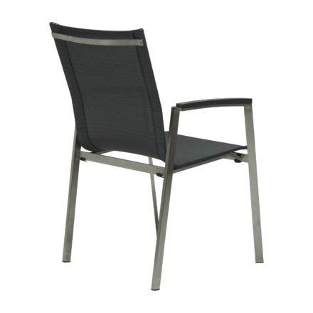 "Stern Stapelsessel ""New Top"", Gestell Edelstahl, Textilen karbon, Armlehnen Aluminium anthrazit"