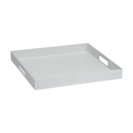 Stern Tablett, Aluminium weiß, 60x60x7 cm