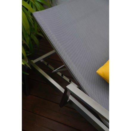 "Home Islands Sonnenliege ""Daiki"", Gestell Edelstahl, Liegefläche aus Textilgewebe silver black"