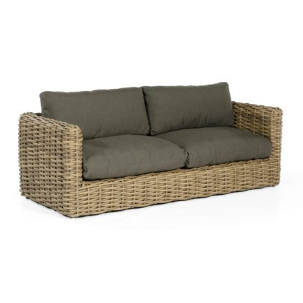 "SonnenPartner Loungesofa ""Sands"", Gestell Aluminium, Geflecht Polyrattan Light Oaks, Kissen taupe"