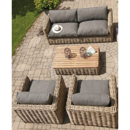 "SonnenPartner Loungegruppe ""Sands"", Gestell Aluminium, Geflecht Polyrattan Light Oaks"