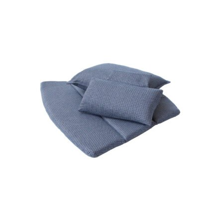 "Cane-line Kissenset für Highbackchair ""Breeze"", Selected PP blau"