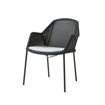 "Cane-line Sitzkissen für Stapelstuhl ""Breeze"", Cane-line Sunbrella® Natté, hellgrau"