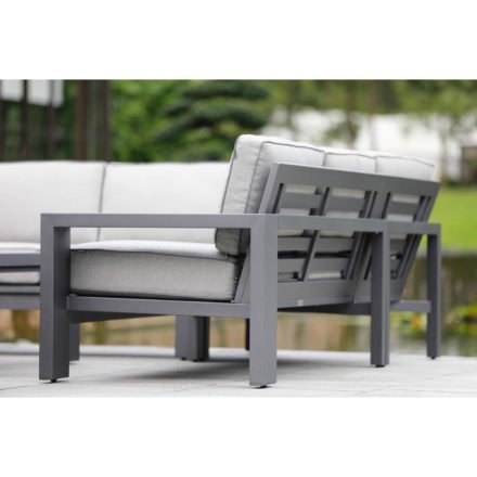 "Hartman Loungeset ""Titan"", Gestell Aluminium seal grey, Polster light grey"
