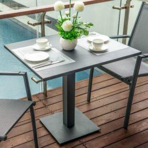 """Home Islands Bistrotisch """"Fujita"""", Gestell Aluminium charcoal, Tischplatte Aluminium charcoal"""