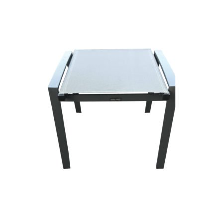 "Home Islands Gartenhocker ""Yuri"", Gestell Aluminium anthrazit, Textilgewebe silver black"