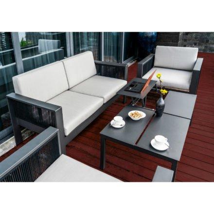 """Home Islands Loungegruppe """"Miray"""", bestehend aus einem Loungesofa und zwei Loungesesseln"""