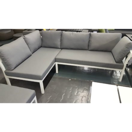 Home Islands Loungeserie Akina, Gestell Aluminium weiß, Polster grau