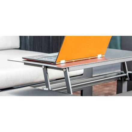 "Home Islands Loungetisch ""Liem"", Gestell & Tischplatte aus Aluminium anthrazit"