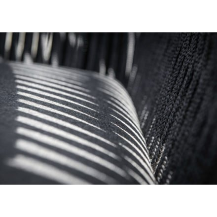 "Jati&Kebon ""Fortuna"" Dining Chair, rope straight weaving grey"