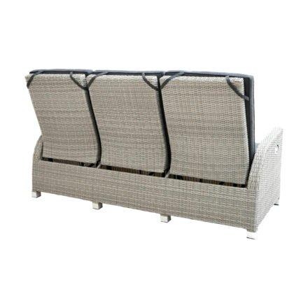 """Ploß """"Catania Comfort"""" Speise-/Loungesofa 3-sitzig, Polyrattan doppel-halbrund grau, Sitz- und Rückenpolster anthrazit"""