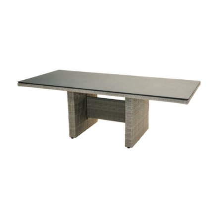 """Ploß """"Catania"""" Diningtisch 220x100 cm, Polyrattangeflecht doppel-halbrund grau"""
