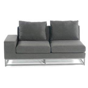 """SonnenPartner 2-Sitzer Eckmodul links """"Unique"""", Gestell Aluminium, Bezug Sunbrella® anthrazit"""