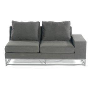 "SonnenPartner 2-Sitzer Eckmodul rechts ""Unique"", Gestell Aluminium, Bezug Sunbrella® anthrazit"