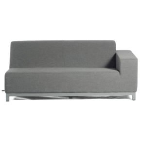 "SonnenPartner 2-Sitzer Eckmodul rechts ""Solitaire"", Gestell Aluminium, Bezug Sunbrella® anthrazit"