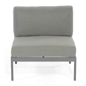 "SonnenPartner Lounge-Mittelmodul ""Vogue"", Gestell Aluminium, Rundgeflecht Polyrope grau"