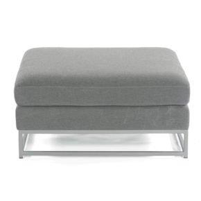"SonnenPartner Loungehocker ""Unique"", Gestell Aluminium, Bezug Sunbrella® anthrazit"