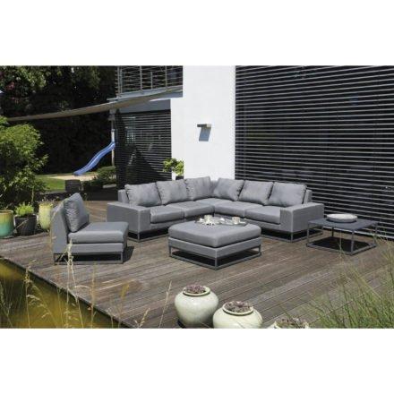 """SonnenPartner Eckmodul 2-Sitzer links + rechts, Eckmodul, Mittelmodul, Hocker """"Unique"""", Bezug Sunbrella® flanelle, Loungetisch """"Basic"""""""