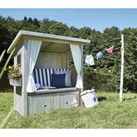 "SonnenPartner Outdoor-Lounge ""Hüttenliebe"", Fichtenholz gebürstet silbergrau"