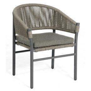 """SonnenPartner Sessel """"Mystique"""", Gestell Aluminium, Geflecht Polyrope grau"""