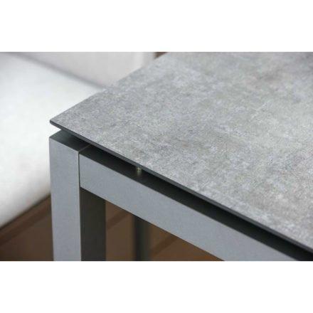 Stern Gartentisch, Gestell Aluminium graphit, Tischplatte HPL metallic grau