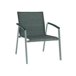 "Stern Loungesessel ""New Top"", Gestell Aluminium graphit, Textilgewebe silbergrau, Armlehnen anthrazit"