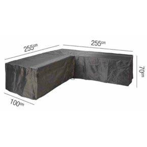 AeroCover L-Form Schutzhülle, 100% Polyester, 255x255x100xH70cm