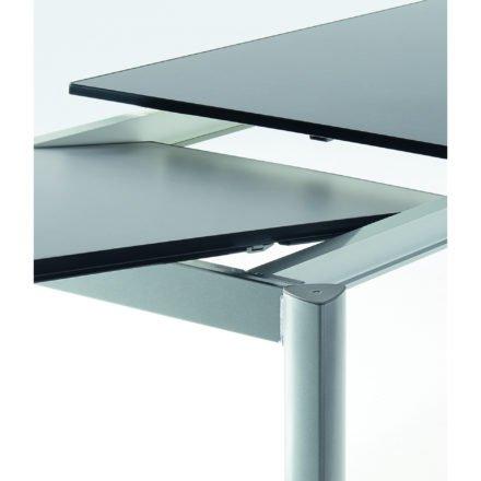 Sieger Ausziehtisch, Gestell Aluminium graphit, Tischplatte Vivodur schiefer anthrazit
