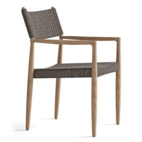 "Gloster Dining Chair ""Tundra"", Gestell Teakholz, Geflecht Polyrattan sable"
