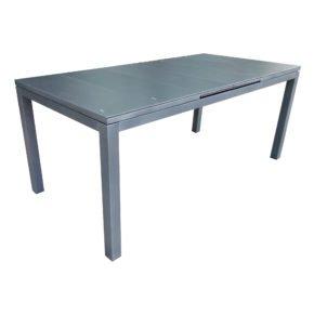 """Siena Garden Gartentisch """"Calun"""" ausziehbar, Gestell Aluminium matt graphit, Tischplatte Glas grey silk"""