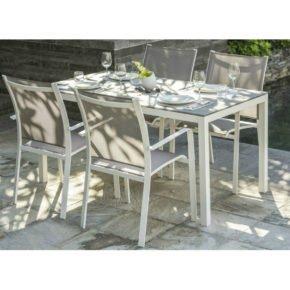 """Home Islands Gartenmöbel-Set – 4 Stühle """"Kagami"""" und Tisch """"Naoki"""""""